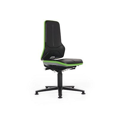NEON Arbeitsdrehstuhl, Sitzausführung Integralschaumpolster, Flexband grün