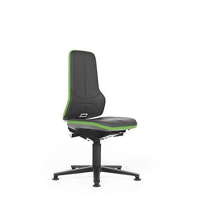 NEON Arbeitsdrehstuhl, Sitzausführung Kunstleder, Flexband grün