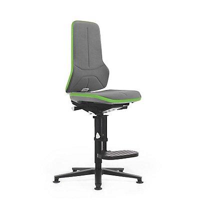 NEON Arbeitsdrehstuhl, mit Aufstiegshilfe, Sitzmaterial Supertec, Flexband grün