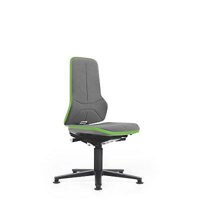 NEON Arbeitsdrehstuhl, mit Gleitern, Sitzmaterial Supertec, Flexband grau