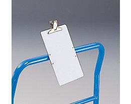 PVC-Schreibtafel - mit Papierklemme - LxB 330 x 222 mm