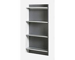 Stahlblech-Fachboden - für gelochte Rückwand - VE 4 Stk
