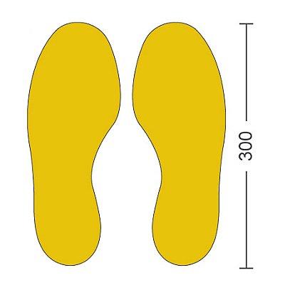 PVC-Bodenmarkierungen - Typ Füße, VE 50 Stk, LxB 300 x 100 mm