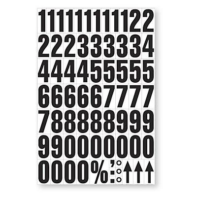 DIN-A4-Bogen mit Schriftzeichen - magnetische Ziffern, VE 2 Stk
