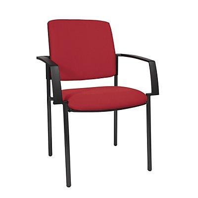 Topstar chaise empilable rembourr e lot de 2 pi tement - Quatre pied quatre chaise ...