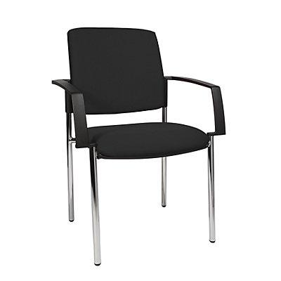 topstar chaise empilable rembourr e lot de 2 pi tement quatre pieds. Black Bedroom Furniture Sets. Home Design Ideas