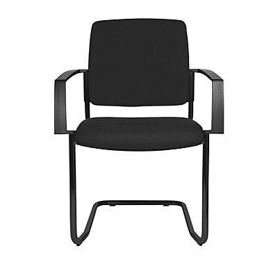 Topstar Chaise empilable rembourrée, lot de 2 - chaise à piétement luge