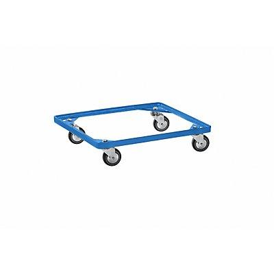 Fahrgestell für Stapelkorb - himmelblau