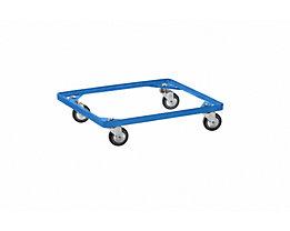 Fahrgestell für Stapelkorb - himmelblau, LxB 630 x 470 mm