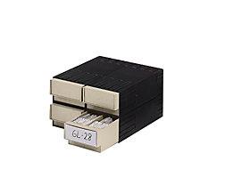 Kombi-Schubladensystem aus Polystyrol - mit 4 Schubladen 2 x 71 mm