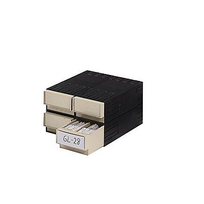 Plastipol-Scheu Kombi-Schubladensystem aus Polystyrol - mit 4 Schubladen 2 x 71 mm