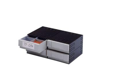 Kombi-Schubladensystem aus Polystyrol - mit 4 Schubladen 225 mm