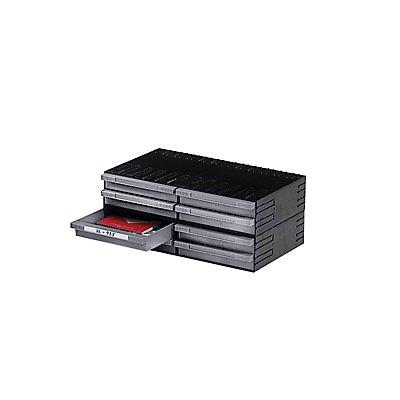 Plastipol-Scheu Kombi-Schubladensystem aus Polystyrol - mit 8 Schubladen 225 mm