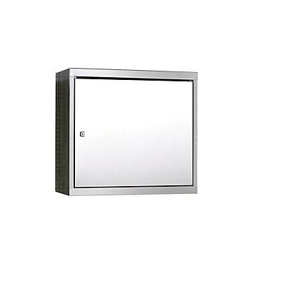 Edelstahl-Hängeschrank - HxBxT 600 x 650 x 320 mm - 2 Fachböden