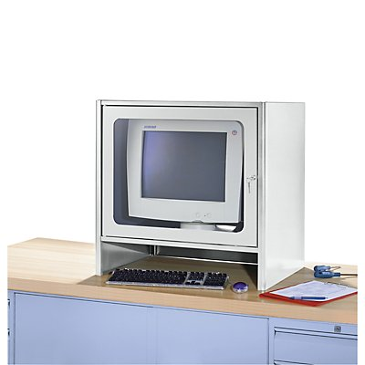 RAU Monitorgehäuse mit integriertem Aktivlüfter - HxBxT 710 x 710 x 550 mm