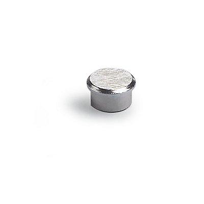 Super-Kraftmagnet, VE 10 Stk - verchromt, Oberfläche gebürstet - Ø 16 mm, Haftkraft 5 kg