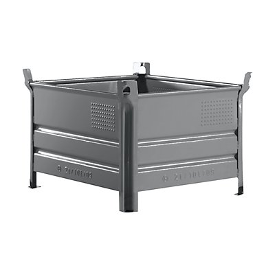 Heson Stapelbehälter mit Kufen, Traglast 1000 kg - LxB 1000 x 800 mm