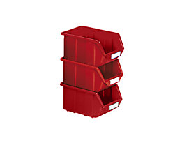 Sichtlagerkasten aus Polypropylen - LxBxH 125 x 113 x 64 mm - rot, VE 30 Stk