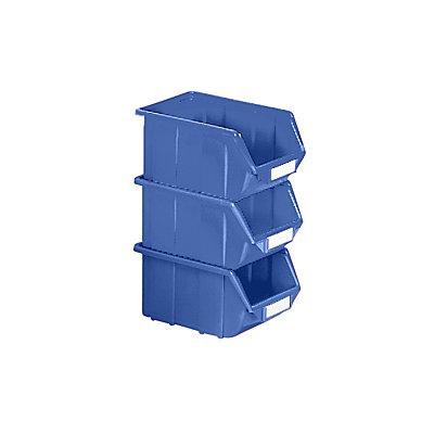 Terry Sichtlagerkasten aus Polypropylen - LxBxH 125 x 113 x 64 mm - blau, VE 30 Stk
