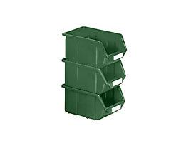 Terry Sichtlagerkasten aus Polypropylen - LxBxH 125 x 113 x 64 mm - grün, VE 30 Stk