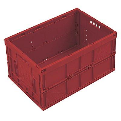Faltbox aus Polypropylen - Inhalt 65 l, Ausführung geschlossen - gelb, ohne Deckel