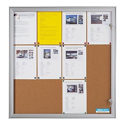 OFFICE AKKTIV Schaukasten mit Flügeltür - Außen-BxHxT 742 x 1005 x 33 mm