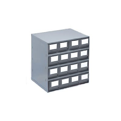Bloc-tiroir, charge max. 75 kg - h x l x p 395 x 380 x 300 mm, 16 tiroirs