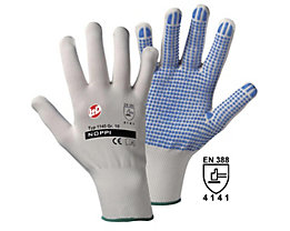 Handschuhe NOPPI - weiß / blau, VE 12 Paar
