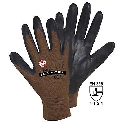 Handschuhe, VE 12 Paar - braun / schwarz, ECO NITRIL FOAM