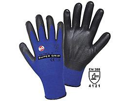 Handschuhe SUPER GRIP - blau / schwarz, VE 12 Paar