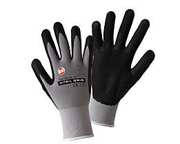 Handschuhe NITRIL GRID - grau / schwarz, VE 12 Paar
