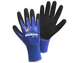 Handschuhe NITRIL AQUA - blau / schwarz, VE 12 Paar