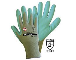 Handschuhe ECO PU WATERBASE - graugrün / grün, VE 12 Paar