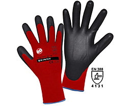 Handschuhe SKINNY - rot / schwarz, VE 12 Paar