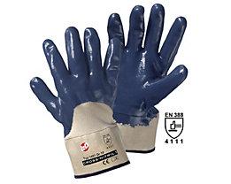 Handschuhe CROSS-NITRIL - blau / natur, VE 12 Paar