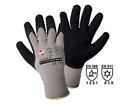 Handschuhe GLETSCHER-GRIP - grau / schwarz, VE 12 Paar