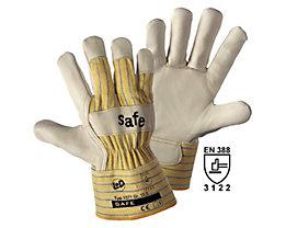 Top-Rindnarbenleder-Handschuhe SAFE - beige / gelb, VE 12 Paar