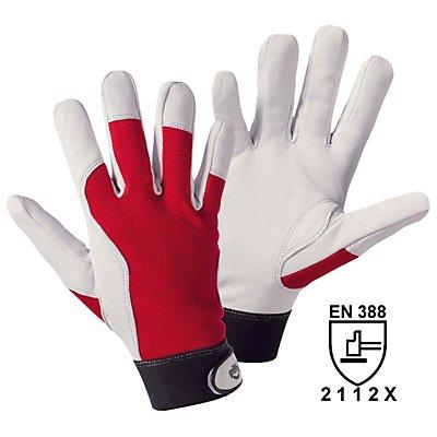 Montagehandschuhe - weiß / rot, VE 10 Paar