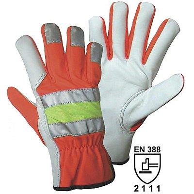 Pannenhandschuhe - weiß / orange / gelb, VE 10 Paar