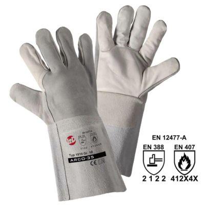 Schweißer-Handschuhe ARCO-35, grau, VE 12 Paar, Größe 10