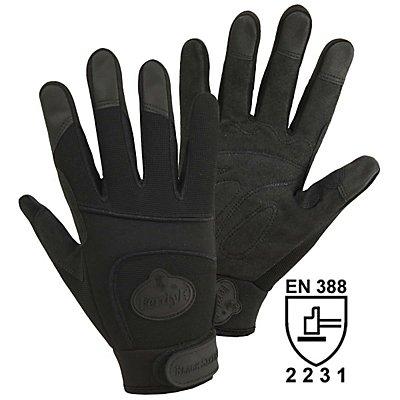 Handschuhe BLACK SECURITY - schwarz, 1 Paar