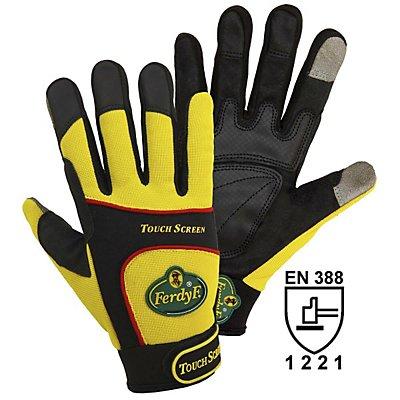 Handschuhe TOUCH SCREEN - schwarz / gelb, 1 Paar