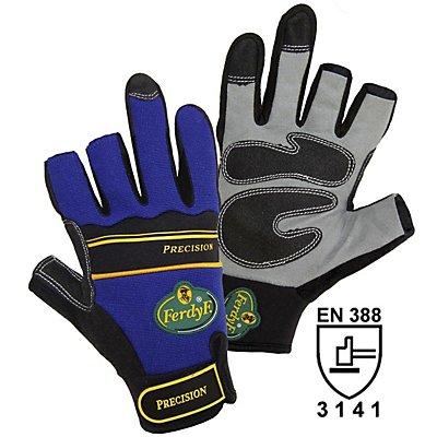 Handschuhe PRECISION - blau / grau, 1 Paar