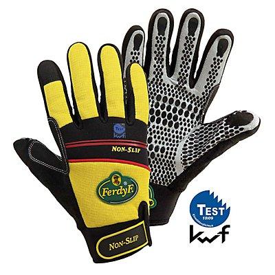 Handschuhe NON-SLIP - gelb / schwarz, 1 Paar