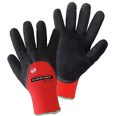 Handschuhe GLACIER-GRIP - schwarz / rot, VE 12 Paar