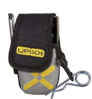 Handy- / PDA-Tasche, mit zusätzlichem Gürtel, schwarz / grau