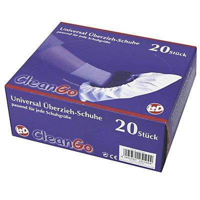 VE A 5 PE-Überziehschuhe CleanGo, weiß, VE 20 Stk, Einheitsgröße