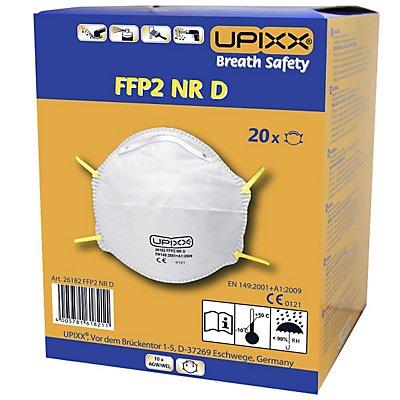 Feinstaubmaske FFP2, ohne Ventil, VE 20 Stk, weiß