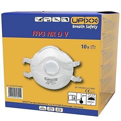 Feinstaubmaske FFP3, mit Ventil, VE 10 Stk, weiß