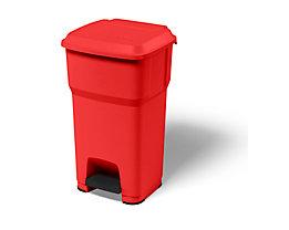 Rot Industrietreteimer Pedal-abfallsammler Aus Kunststoff Volumen 35 L